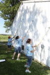 Volunteers spruce up the community