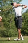 Chesterton native golfer Kyle Grassel sends a ball from the fourth tee at Sand Creek on Thursday during the second round of the Northern Amateur. He finished at 2-under-par 70.