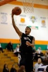 Griffith's Anthony Murphy drives for a layup