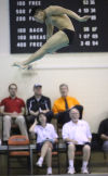 Portage diver John Fannin placed first at the LaPorte Sectional on Saturday.