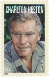 Actor Charlton Heston U.S. Postage Stamp