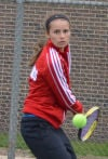 Munster's Nikki Heiniger teamed with Paige Heuer last season at No. 1 doubles, and they placed third in the state.
