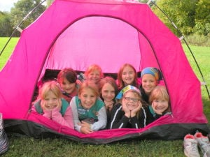 Junior Girl Scouts explore Sunset Hill County Park