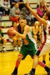 Wheeler's Tijana Raketic looks for an open teammate