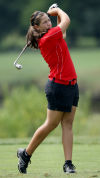 Munster's Nicole Howard tees off on No. 13