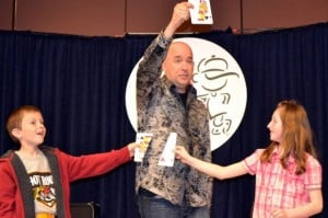 Award Winning Entertainer brings laughter & learning to local students