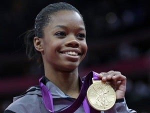 Spend a golden moment with gymnast Gabrielle Douglas