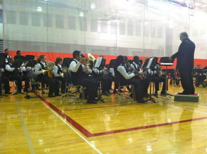 T.F. South bands, winter guard perform at spring concert