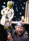 "Jim Henson with Kermit the Frog in his ""Sesame Street"" TV News Segment"