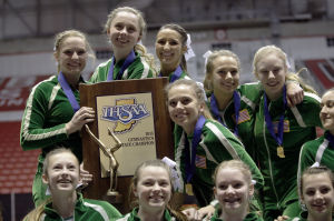 Vikings cruise to 11th gymnastics state title