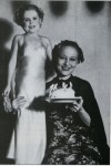 Munchkin Margaret Pellegrini with Famed Fan Dancer Sally Rand in 1936