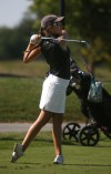 Nina Nicpon golfs for Marian Catholic