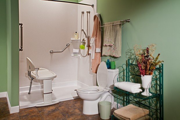 Bathroom Safety Design For Aging Generations Includes Grab