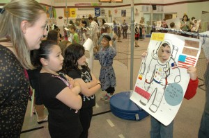 Wax museum at Yost Elementary