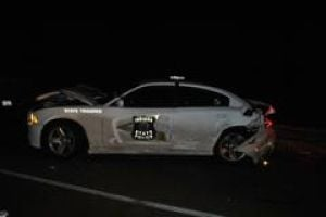 State police squad hit on I-65, trooper not injured