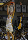 Valparaiso's Clay Yeo dunks the ball against the defense of Murray State during Friday's home opener at the ARC.