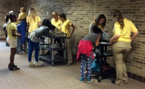 VU students assist with Merrillville vision screening