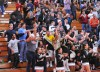 Griffith cheer block goes crazy in win