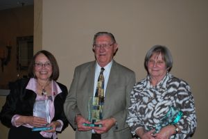 Three Lansing Historical Society board members honored