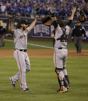 Bumgarner, Giants beat K.C. to win World Series