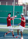 Munster No. 1 doubles players Alex Wisniewski and Adam Richter nearly collide