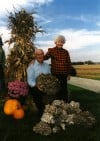 Ed and Lorraine Wappel with Wild Mushrooms at Wappel Family Farm in 2000