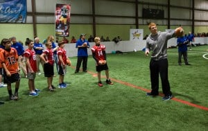Region kids show their stuff at Pop Warner clinic