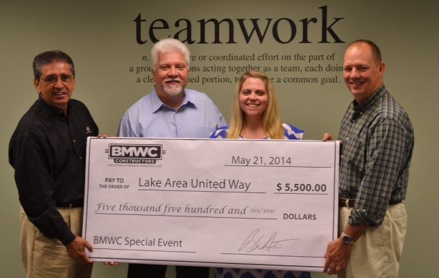 Company donates parking proceeds to Lake Area United Way