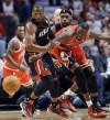 Dwyane Wade, LeBron James, Luol Deng