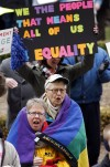 Hundreds protest proposed constitutional ban on gay marriage