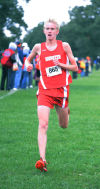 Munster's Theo Burgwald placed third at the Northwest Crossroads Conference meet.