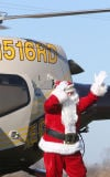 Yule frequent flier greeted