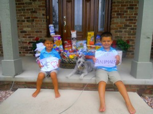 Local children celebrate their birthdays by giving back to others in need