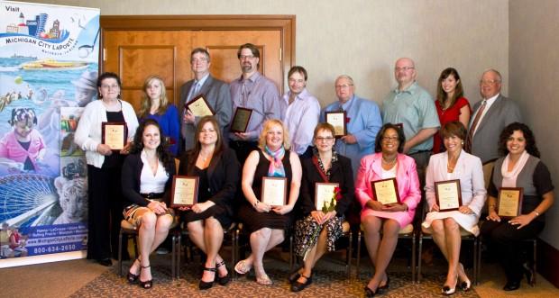 Tourism bureau presents r o s e awards laporte for Laporte community