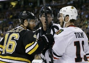 Boston dominating faceoffs in Stanley Cup Final