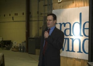 TradeWinds hosts symbolic groundbreaking at future facility in Hobart