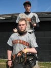 Louie Grounds and Jesse Mills, Westville baseball