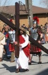Parishioners from Our Lady of Guadalupe re-enact Christ's journey to crucifixion