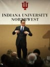 Garrison Wynn speaks at IUN luncheon