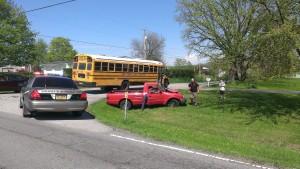 Minor injuries in Union Township school bus crash