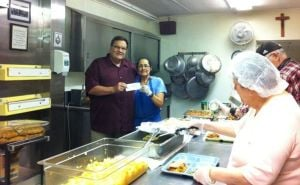 Knights donate to St. Joseph Soup Kitchen
