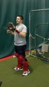 Local HS catcher helps pro pitchers get ready for spring training