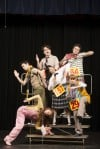"Cast of ""The 25th Annual Putnam County Spelling Bee"" at Theatre at the Center in Munster, Ind."