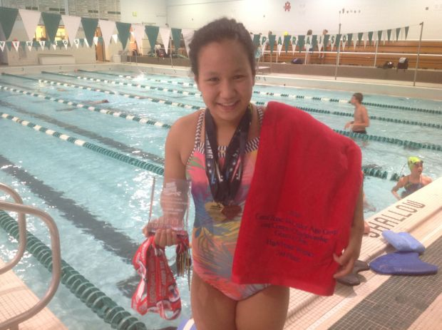 Meg Calumpang strikes gold at state and zone meets, breaks 30-year-old record
