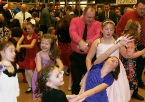 Dancing the night away with daddy