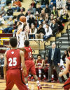 Chesterton's Chris Palombizio pulls up for a 3-pointer