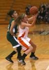 Whiting's Citlali Lopez guards Wheeler's Haley Livinson