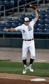 RailCats first baseman Christian Vitters