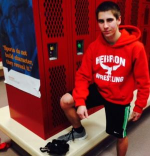 Hebron wrestler Giacomin putting the pieces together