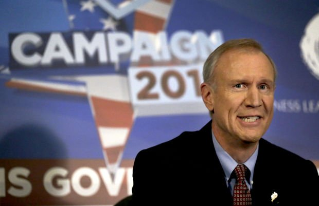 Pence backing Rauner but not campaigning with him